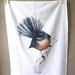 New Zealand illustration Tea Towel, 100% cotton, Fantail  from original paintings by Emilie Geant