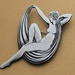 Art Deco Echo / Reclining Nude Brooch / Ltd Edition