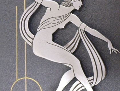 Art Deco Echo - Limited Edition Brooch - Stylised Ballet Dancer