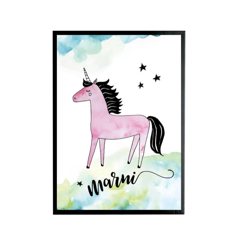 Unicorn Custom Name Poster