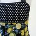 Lemon and blueberry Apron - black white blue yellow apron - black white spot full apron