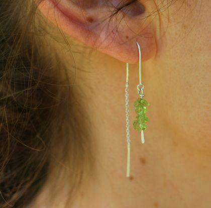 Dew Drop Chain Earrings