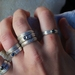Twisted Ring with Gemstone Sample Sale