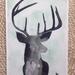Watercolour stag