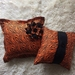 ORANGE AND BLACK CUSHION COVERS