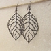 Copper Skeleton Leaves earrings: antiqued-copper coloured skeleton leaves on ear-hooks