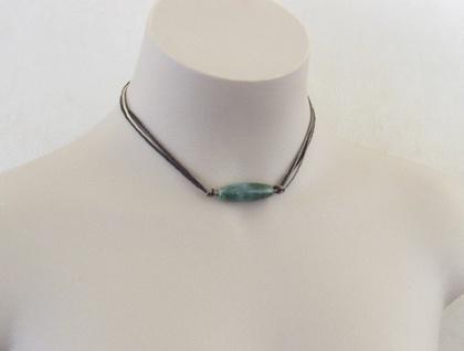 Green jasper collar