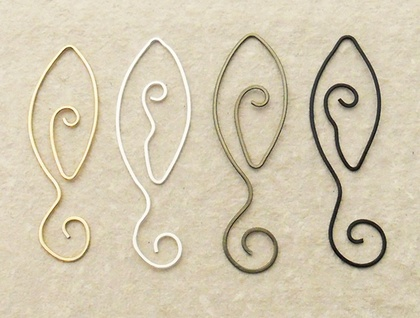 Four handmade, hammered wire leaf bookmarks – four colour choices, ready gift-wrapped