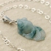 Jade Goldfish: dark green Burmese jade pendant on sterling silver chain – one of a kind necklace