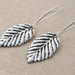Silver Leaves: simple, birch leaf earrings with silver-plated ear-wires – last pair!
