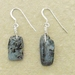 Asymmetrical Kyanite earrings #1: rustic, light blue semiprecious stones with sterling silver filled hooks
