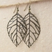 Bronze Skeleton Leaves earrings: skeleton leaves on simple ear-hooks or leverbacks – last pair!