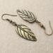 Little Bronze Leaf earrings: simple, antiqued bronze leaves with bold veining –last pair!