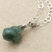 Jade Sea Snail: dark green Burmese jade pendant on sterling silver chain – one of a kind necklace