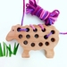 Wooden Toy Threading Sheep