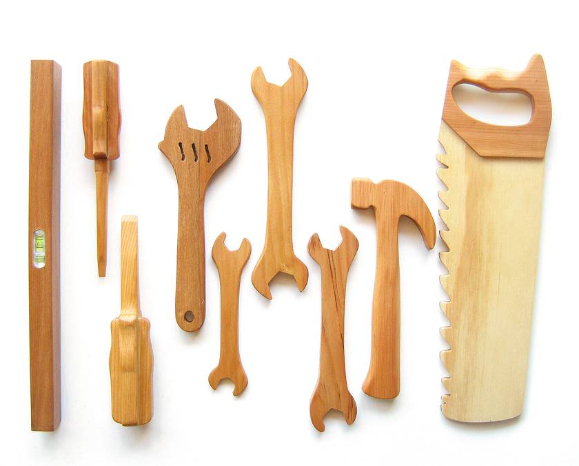 The Larger than Large Wooden Toy Tool Set