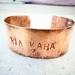 Recycled Copper Cuff Bracelet - Medium size
