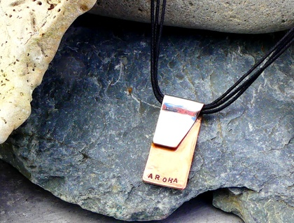 Our Bond - unisex pendant in bonded Recycled Copper + Silver