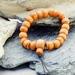 Unisex Beaded Bracelet in Recycled Rimu - adjustable
