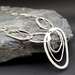 Long Pebble Chain Necklace in Silver - 70cm