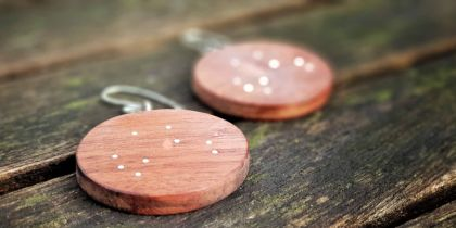 Medium Star Map Earrings - Round
