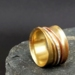 THE JOURNEY Brass Meditation Ring with Gold