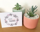 10 Beautiful floral LOVE & THANKS CARD