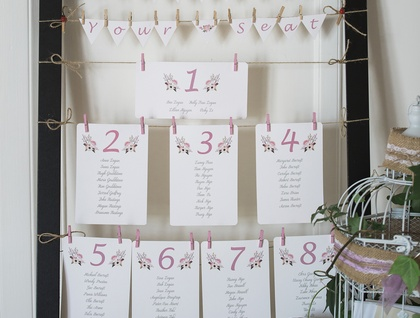 Rustic Wedding Seating Plan - Set
