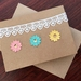 Lace and Flower Handmade Card