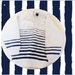 Handknit: Navy Stripes - child's jersey in navy and off-white