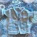 Handknit: Icy Skies baby's jacket