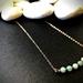 Amazonite bar necklace - gemstone bar necklace - dainty bar necklace - layering bar necklace - minimalist necklace - amazonite necklace