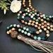 Indian agate mala beads - mala beads - mala necklace 108 - 108 mala necklace - boho mala - tassel necklace - mala bead necklace - yoga beads