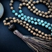 Amazonite mala beads - mala beads - amazonite mala necklace 108 - 108 mala necklace - amazonite yoga - boho mala - mala bead necklace