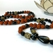 Rudraksha mala with black agate and onyx - tassel necklace - onyx mala - 108 beads - mala necklace - mala beads - boho mala - mala beads 10