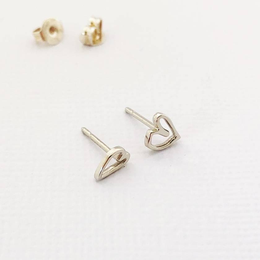 Design Your Own Heart Stud Earrings