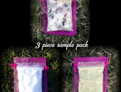 Handmade Natural Bath Soaks x3