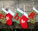 Three Personalised Mini Stockings