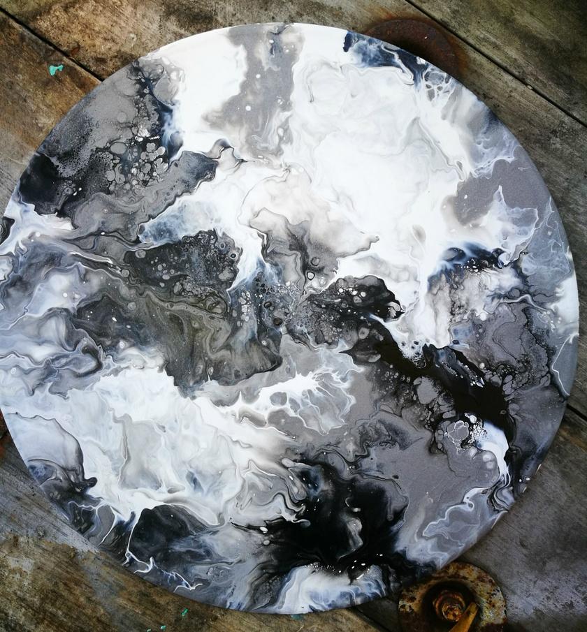 Abstract Fluid Original Art - Fractious