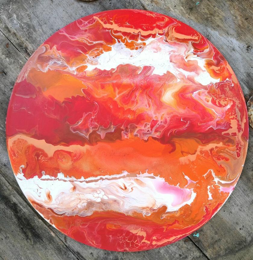 Abstract Fluid Original Art - Conflagrant