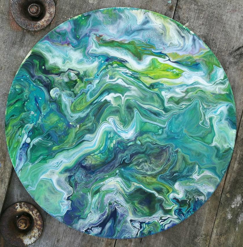 Abstract Fluid Original Art - Verdure