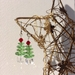 Sterling Silver Christmas Tree Earrings with Swarovski Crystal beads