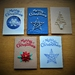Christmas cards, stars, trees and snowflakes