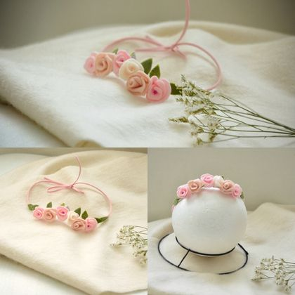 Tie back headband for photo prop