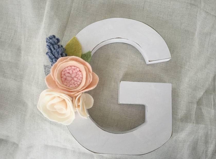 Letter G floral letter