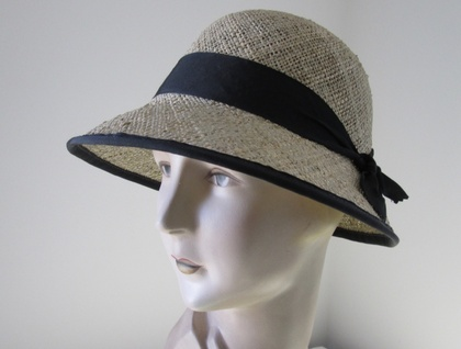 Bessie Seagrass Cloche Ribbon Edge