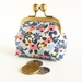 Small Coin Purse in Pink and Blue Floral Print