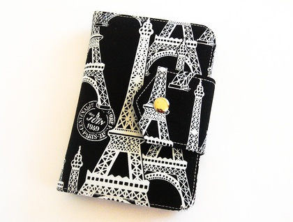 Passport Wallet, Travel Wallet for up to 2 Passports in Eiffel Tower Print