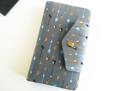 Passport Holder, Wallet To Fit Up to 4 Passports in Arrows Print