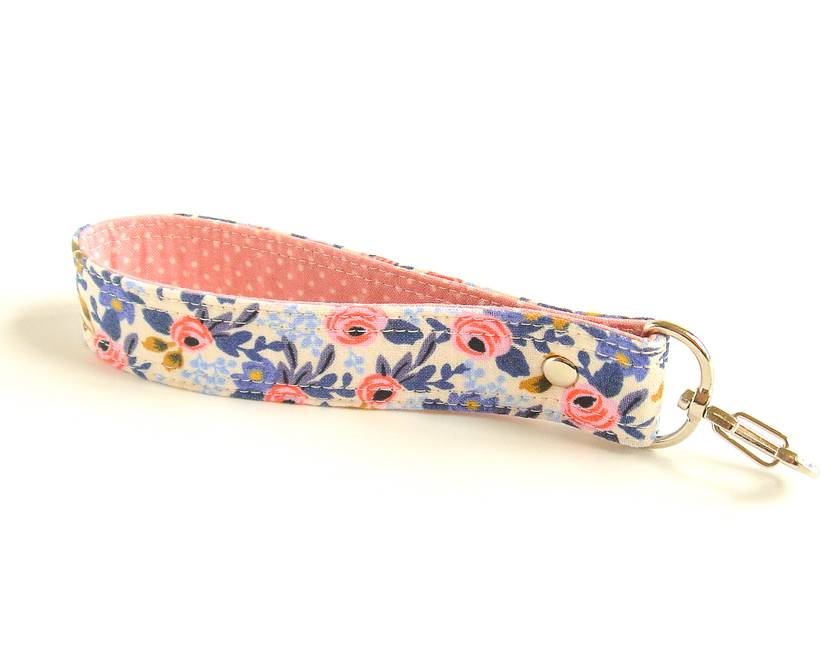 Floral Keychain Strap with Swivel Hook